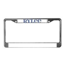 Rylee Blue Glass License Plate Frame