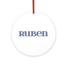 Ruben Blue Glass Round Ornament