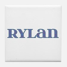 Rylan Blue Glass Tile Coaster