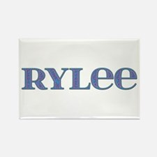 Rylee Blue Glass Rectangle Magnet