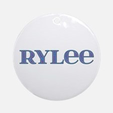 Rylee Blue Glass Round Ornament