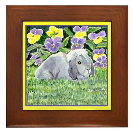 Spencer Rabbit Framed Tile