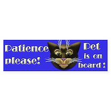 Pet is on board! Bumper Sticker