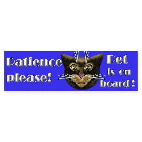 Pet is on board! Sticker (Bumper)