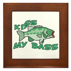 Kiss My Bass Framed Tile