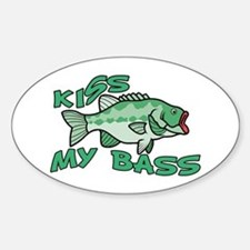 Kiss My Bass Sticker (Oval)