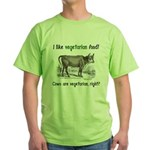Cows are vegetarian, right? Green T-Shirt