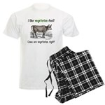 Cows are vegetarian, right? Men's Light Pajamas