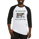 Cows are vegetarian, right? Baseball Jersey