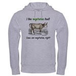 Cows are vegetarian, right? Hooded Sweatshirt