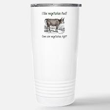 Cows are vegetarian, right? Travel Mug
