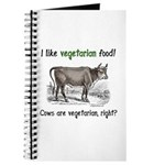 Cows are vegetarian, right? Journal