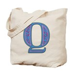 Q Blue Glass Tote Bag