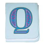 Q Blue Glass baby blanket