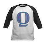 Q Blue Glass Kids Baseball Jersey
