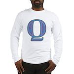 Q Blue Glass Long Sleeve T-Shirt