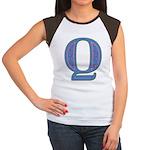 Q Blue Glass Women's Cap Sleeve T-Shirt