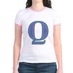 Q Blue Glass Jr. Ringer T-Shirt