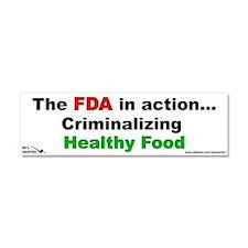 The FDA in Action...Criminali Car Magnet 10 x 3