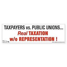 Taxpayers vs. Public Unions. Bumper Sticker