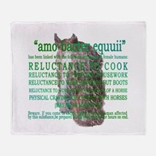 """amo-bacter equuii"" funny hor Throw Blanket"