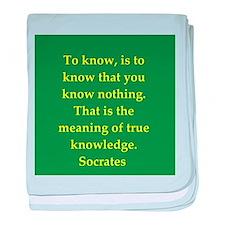 Wisdom of Socrates baby blanket