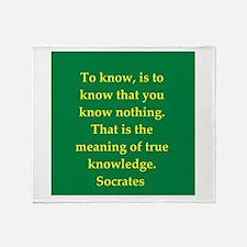 Wisdom of Socrates Throw Blanket