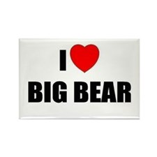 Funny Big bear lake Rectangle Magnet