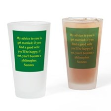 Wisdom of Socrates Drinking Glass