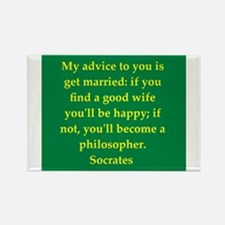 Wisdom of Socrates Rectangle Magnet