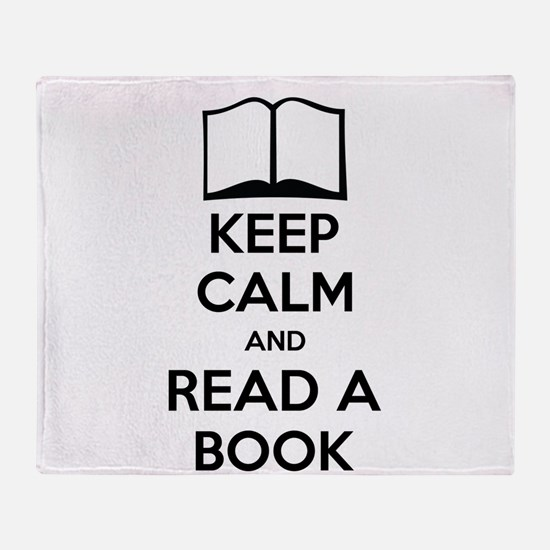 Keep Calm And Read A Book Throw Blanket