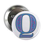 Q Blue Glass Button