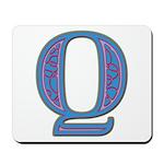 Q Blue Glass Mousepad