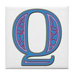 Q Blue Glass Tile Coaster