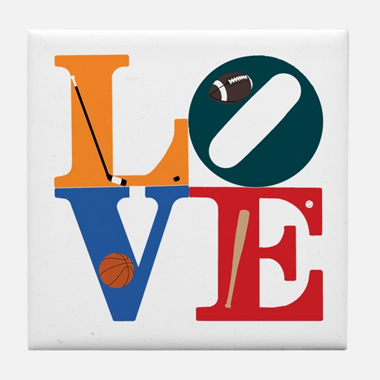 Love Philly Sports Tile Coaster