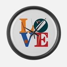 Love Philly Sports Large Wall Clock