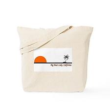 Cool California surfing bear Tote Bag