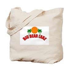 Funny California surfing bear Tote Bag