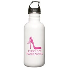 Pink Stiletto Stamp Out Breast Cancer Water Bottle
