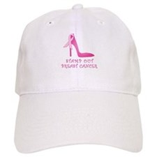 Pink Stiletto Stamp Out Breast Cancer Baseball Cap