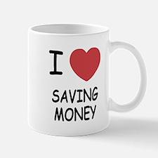 I heart saving money Mug