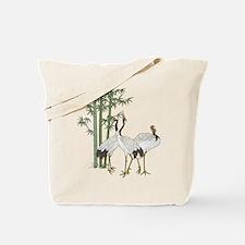 Crane & bamboo Tote Bag