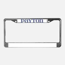 Payton Blue Glass License Plate Frame