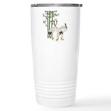 Crane & bamboo Travel Mug