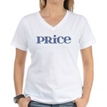 Price Blue Glass Women's V-Neck T-Shirt