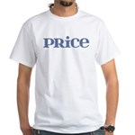 Price Blue Glass White T-Shirt