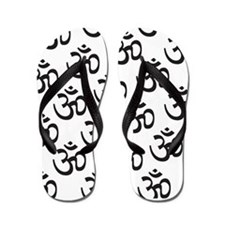 Black and White Om Flip Flops