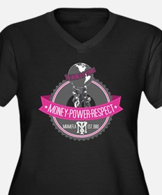 The World Is Yours Women's Plus Size V-Neck Dark T
