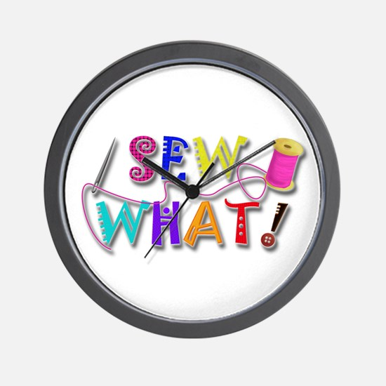 Sew What Wall Clock