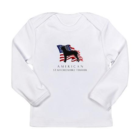 """American"" Staffordshire Long Sleeve Infant T-Shir"